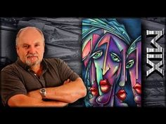 Michael Lang: painting style - colored washes,how to create Urban Expressionism ART demo.