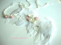 Baby Halo Headband and Wings Baby Girl Feather by crystalandtaylor