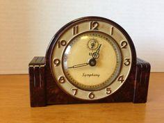 Vintage Lux Art Deco Symphony Alarm Clock - Bakelite