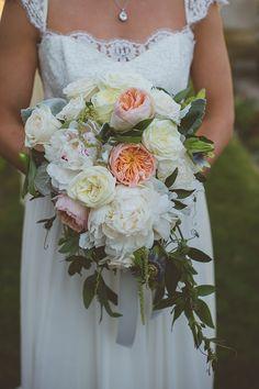 lush peony bouquet | Katie Slater Photography | Glamour & Grace