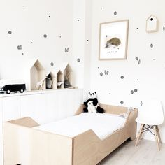 DECAL | WALL & FURNITURE / VIOLETA COR.DE.ROSA Home And Living, Wall Decals, Toddler Bed, Furniture, Home Decor, Wall Clings, Infant Room, Baby Room Girls, Wall Papers