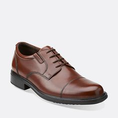 Bardwell Limit Brown Leather - Men's Oxfords and Lace Up Shoes - Clarks
