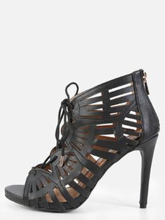Online shopping for Peep Toe Cut Out Booties BLACK from a great selection of women's fashion clothing & more at MakeMeChic.COM.