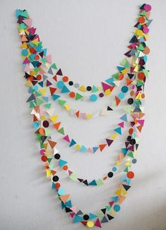 DIY-able Geometric Garland