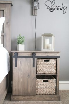 Installing interior barn door hardware can transform the look of your room. Read these steps in buying interior barn door hardware. Rustic Furniture, Bedroom Furniture, Diy Furniture, Mirrored Furniture, Bedroom Decor, Bedroom Rustic, Furniture Plans, Luxury Furniture, Garden Furniture