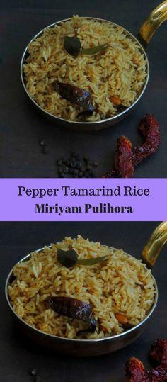 Miriyam Pulihora/Pepper Tamarind Rice