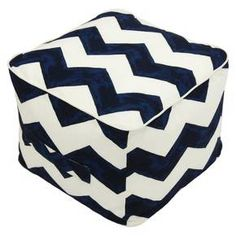 Cute and colorful, this outdoor pouf from Threshold is a true multitasker. Use it as an extra seat, an ottoman, even a casual side table. It comes in a variety of colors and patterns, and the treated fabric cover resists spills, stains, rain and mildew. The built-in handle makes it easy to move around your deck or patio.