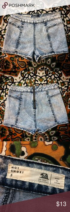 Acid Wash Hot Shorts // BULLHEAD Sweet little high waisted shorts with tons of stretch! These are so flattering on. Definitely cheeky (on me) but will depend on your fit.   { bullhead pacsun tillys urban outfitters festival festi rave shorties edc coachella california cali skater surf punk hippie hipster indie kawaii vintage distressed high rise denim brandy melville kendall kylie }    ⬇️ Please comment with any questions! ⬇️  💬 Negotiate via offer feature 💬  ❤️✨ BUNDLE to SAVE ✨❤️…
