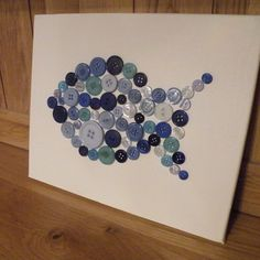 Blue Button Fish Canvas - £15.75