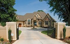 European House Plan with 6155 Square Feet and 4 Bedrooms from Dream Home Source | House Plan Code DHSW075742