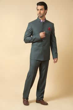 Terry wool jodhpuri suit with shirt. Item number M15-127