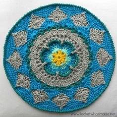 Sophie's Mandala (Medium) Motif By Dedri Uys - Free Crochet Pattern - (ravelry)