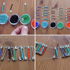 How to Create Beaded Baubles with Safety Pins   Brit + Co.