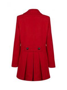 Manteau droit boutonné paprika - droits femme - naf naf