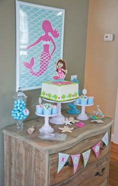 Very cute mermaid party with printables by Anders Ruff.