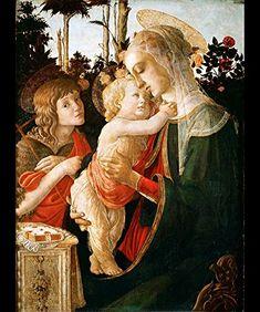 Amazon.co.jp: ボッティチェリ 『 聖母子と幼き洗礼者ヨハネ 』のマウスパッド:フォトパッド*(世界の名画シリーズ): ホーム&キッチン
