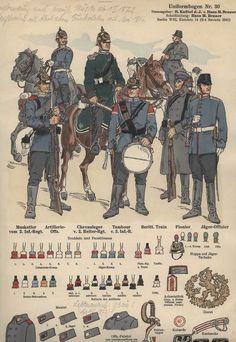Real Life Concept Art: military uniforms and the roles they represent.