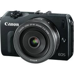 Canon EOS-M Mirrorless Digital Camera with EF-M 22mm f/2 STM Lens - Black. Get your at B or Amazon for $299, but act fast, these won't last at this price! An almost pocket sixed camera with an 18MP APS-C sizes sensor and many of the internal circuits of the professional 5D3!