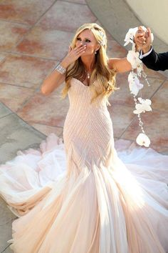 20 Stunning Non-White Wedding Dresses for the Bold and Daring - Wedding Dress by Thorne Artistry via 100 Layer Cake
