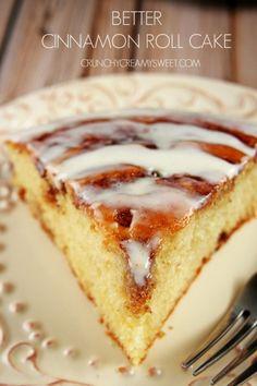Cinnamon Roll Cake From Scratch Recipe Card