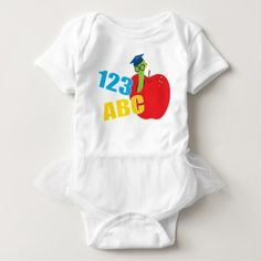 #cute #baby #bodysuits - #ABC Worm Baby Bodysuit