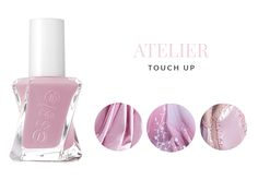 Essie ♥ Gel Couture Atelier Touch Up http://beautyboulevard.se/essie-gel-couture/ Nail Polish Nagellack Dusty Pastel Pastell Bright Pink Rosa Lila Purple Black Svart White Vit