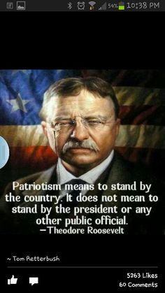 Theodore Roosevelt, the manliest man ever to male, and the very face of America.