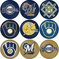 "Milwaukee Brewers MLB 1.75"" Badges Pinbacks, Mirror, Magnet, Bottle Opener Keychain http://www.amazon.com/gp/product/B00K450B5A"