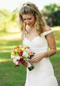 Angela and David in Fort George Island, FL : Wedding Hairstyle Gallery : Brides