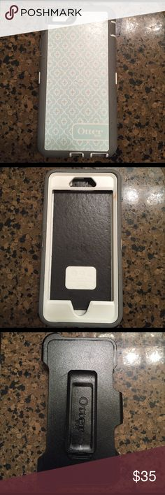 iPhone 6 otterbox defender case Has minor scratches, rubber is peeling up in some places, and has no plastic screen cover. Still extremely protective for a phone with a screen protector. Comes with holster which is in great condition. Offers accepted OtterBox Accessories Phone Cases