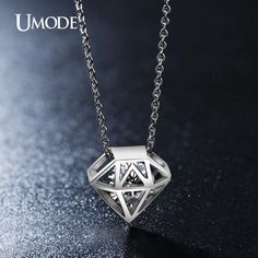 Hollow Round Cut Clear Zirconia Necklace White Gold Plated Necklaces, Bridal