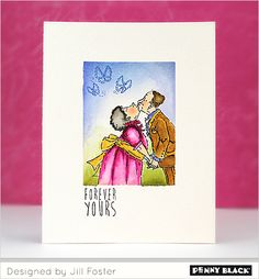 Featuring Penny Black's newest release of love-themed stamps and dies... Follow Your Heart