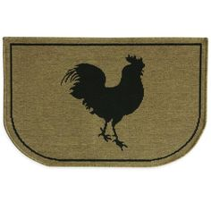 product image for Bacova Rooster Burlap Woven Slice 22-Inch x 35-Inch Kitchen Rug in Brown