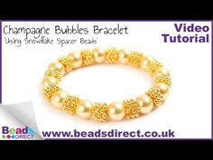 How To Make A Champagne Bubbles Bracelet With Snowflake Spacer Beads | Jewellery Making