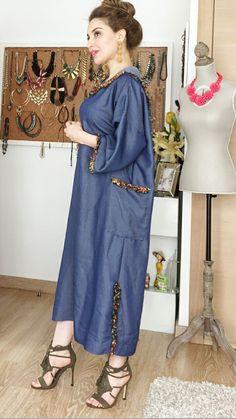 African Fashion Dresses, African Dress, Morrocan Dress, Mode Kimono, Mode Abaya, Boho Fashion Summer, Dress Indian Style, Indian Designer Outfits, Abaya Fashion
