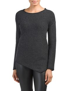 Cashmere Asymmetrical Hem Sweater