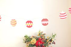 holiday christmas ornament garland por chiarabelle en Etsy