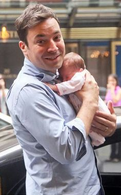 Jimmy Fallon & his baby girl, Winnie Rose!  I can't love him more for being open about infertility struggles.