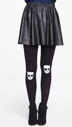 Fun for the office: Ghostly tights. BP. Skull Knee Tights.