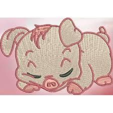 cute pig embroidery - Google Search