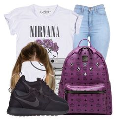 """""""Nirvana."""" by nasiaamiraaa ❤ liked on Polyvore featuring MICHAEL Michael Kors, MCM, River Island, NIKE, women's clothing, women, female, woman, misses and juniors"""