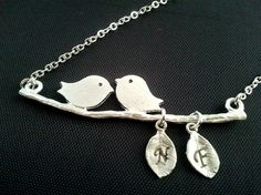 A Couple of Songbird and Two Initial Necklace
