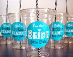 Bachelorette Party Cups Bride's Drinking Team and by Celebr8tions, $13.20