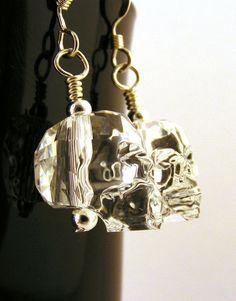 Skull Earrings Swarovski Crystal Elements  available at: www.JenniLeighCreations.etsy.com, $30.00