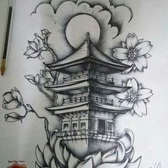 35 Ideas tattoo designs brazo for can find Japanese sleeve tattoos and more on our Ideas tattoo designs brazo for 2019 Japanese Temple Tattoo, Japanese Tattoo Women, Japanese Tattoo Symbols, Japanese Tattoo Art, Japanese Tattoo Designs, Japanese Sleeve Tattoos, Japanese Drawings, Japanese Dragon Tattoos, Irezumi Tattoos