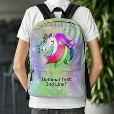 Personalized Unicorn Back Pack, Personalized Unicorn School Bag, Unicorn Gift, Purple Unicorn Backpack, Fabulous Unicorn Backpack by UnicornGiftsFor on Etsy Purple Unicorn, Unicorn Gifts, School Bags, Unicorns, Backpacks, Unique Jewelry, Etsy, A Unicorn, Backpack