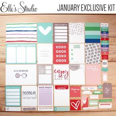 Exclusive January 2016 Kit from Elle's Studio - scrapbooking, Project Life, etc.