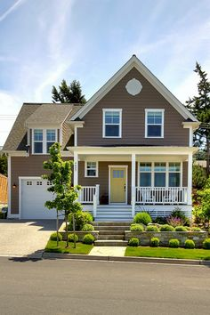 Affordable Find This Pin And More On Exterior House Paint Brown Exterior  Yellow Door With Door Colors For Yellow House