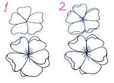 resultado de imagen para how to draw a cherry blossom tree step by step