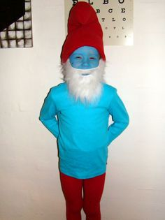 Home made smurf costumes the cutest sweetest kids ever wearing papa smurf costume solutioingenieria Images